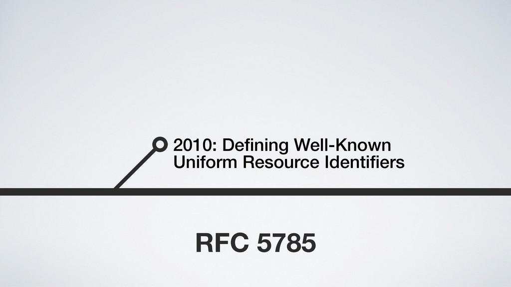 2010: Defining Well-Known Uniform Resource Ident...