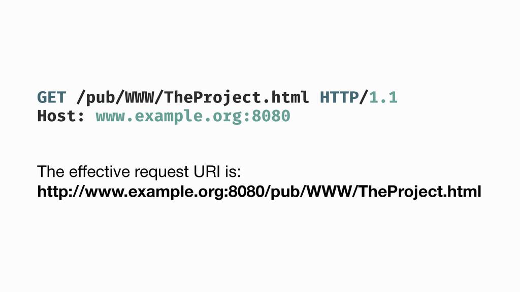 GET /pub/WWW/TheProject.html HTTP/1.1 Host: www...
