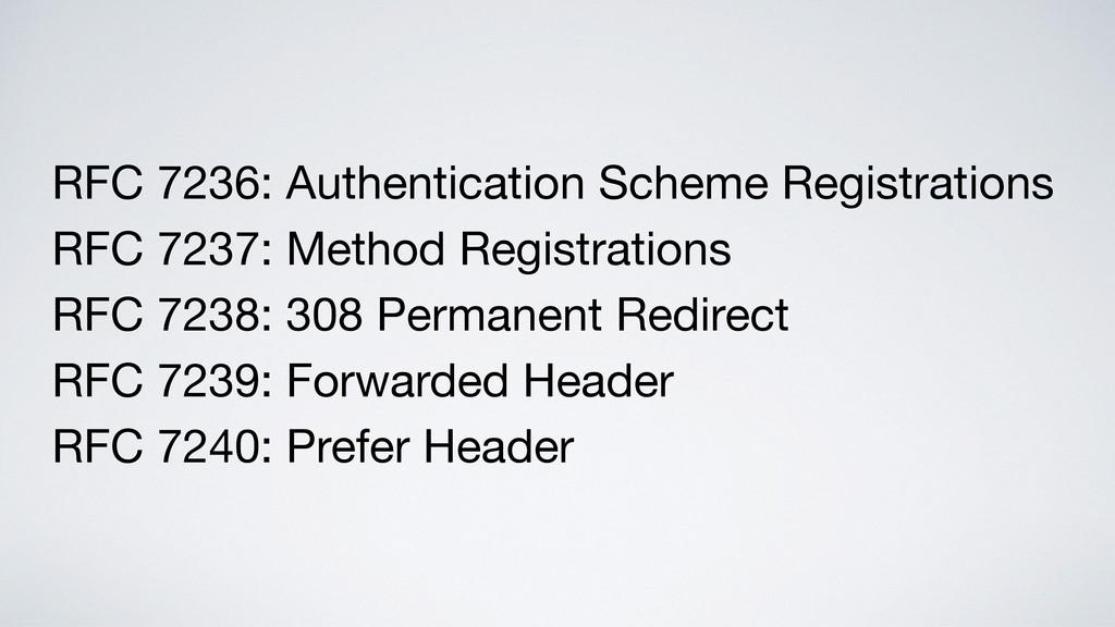 RFC 7236: Authentication Scheme Registrations  ...