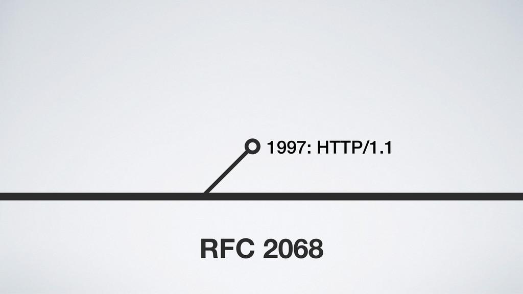 1997: HTTP/1.1 RFC 2068