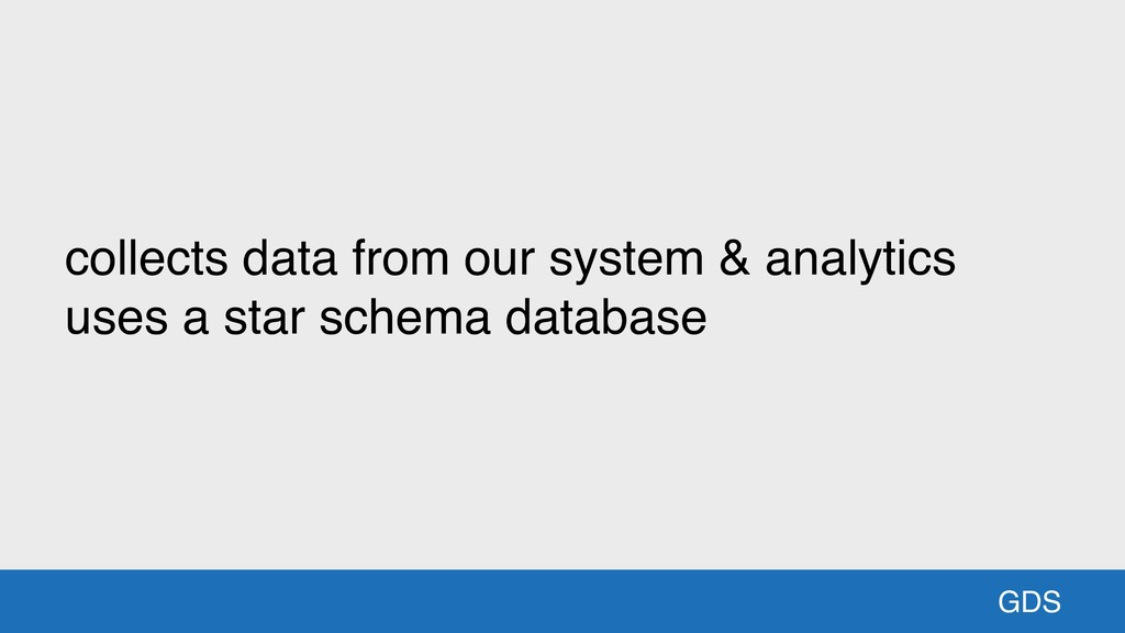 GDS collects data from our system & analytics u...