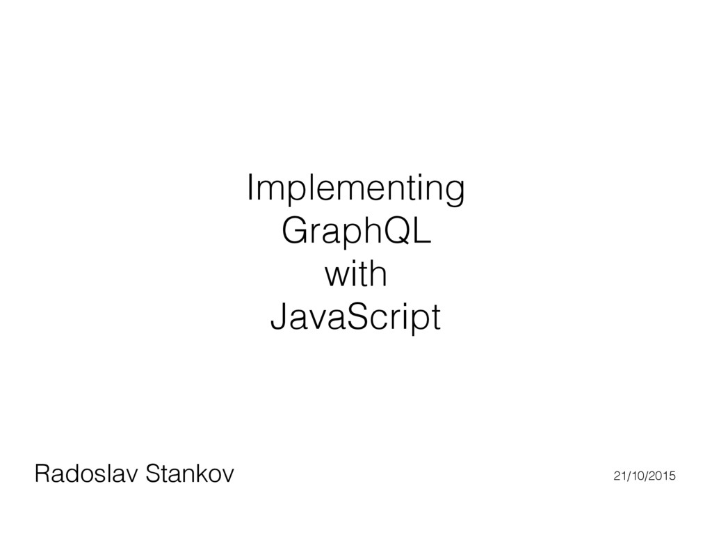 Implementing GraphQL with