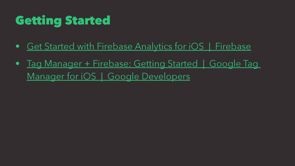 Getting Started • Get Started with Firebase Ana...