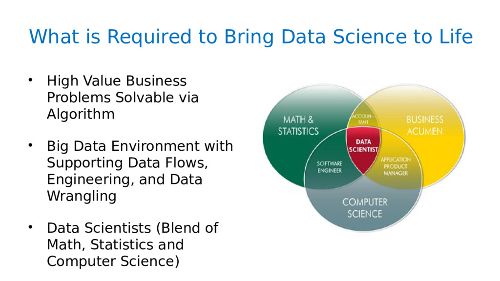 What is Required to Bring Data Science to Life ...