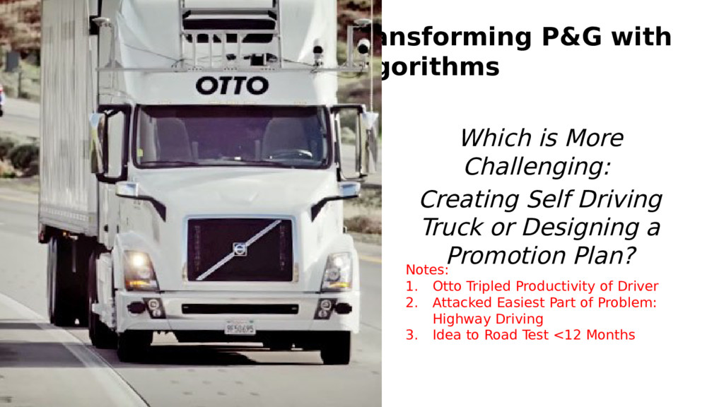 Transforming P&G with Algorithms Which is More ...