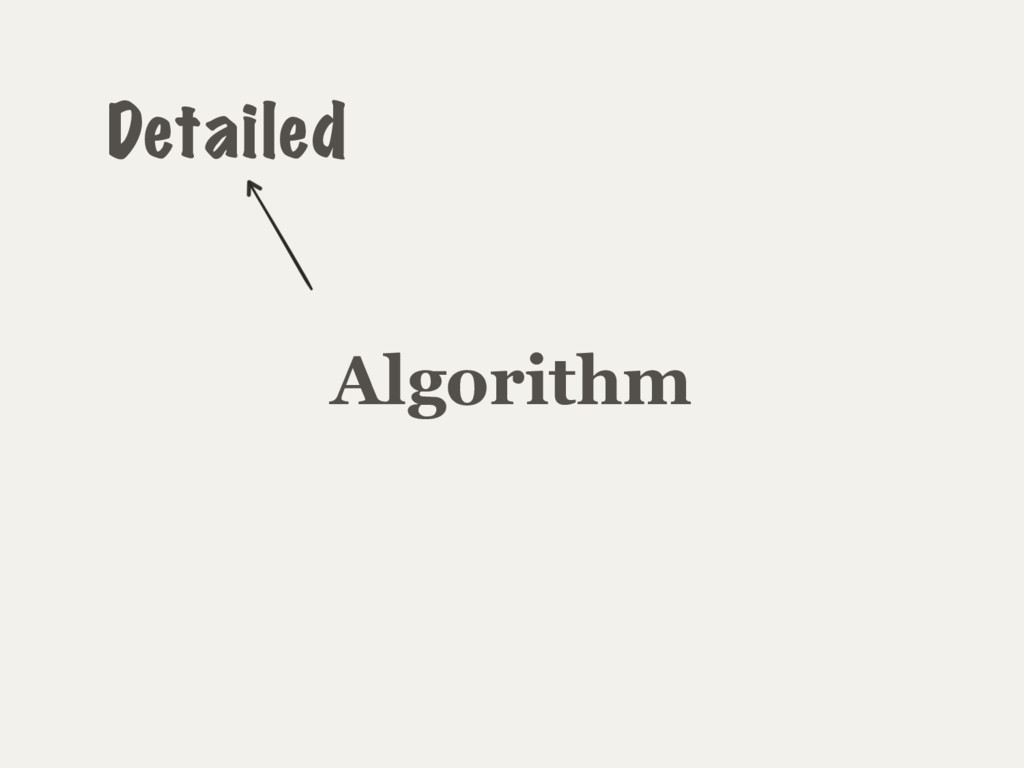 Algorithm Detailed