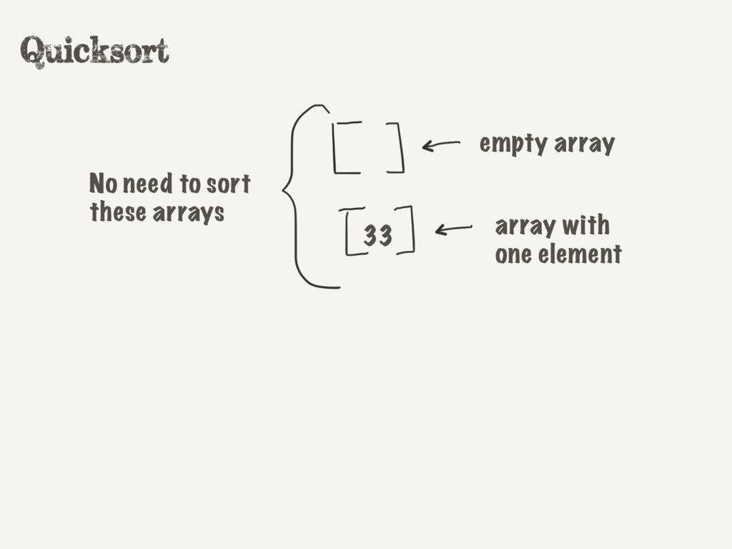 empty array array with one element No need to s...