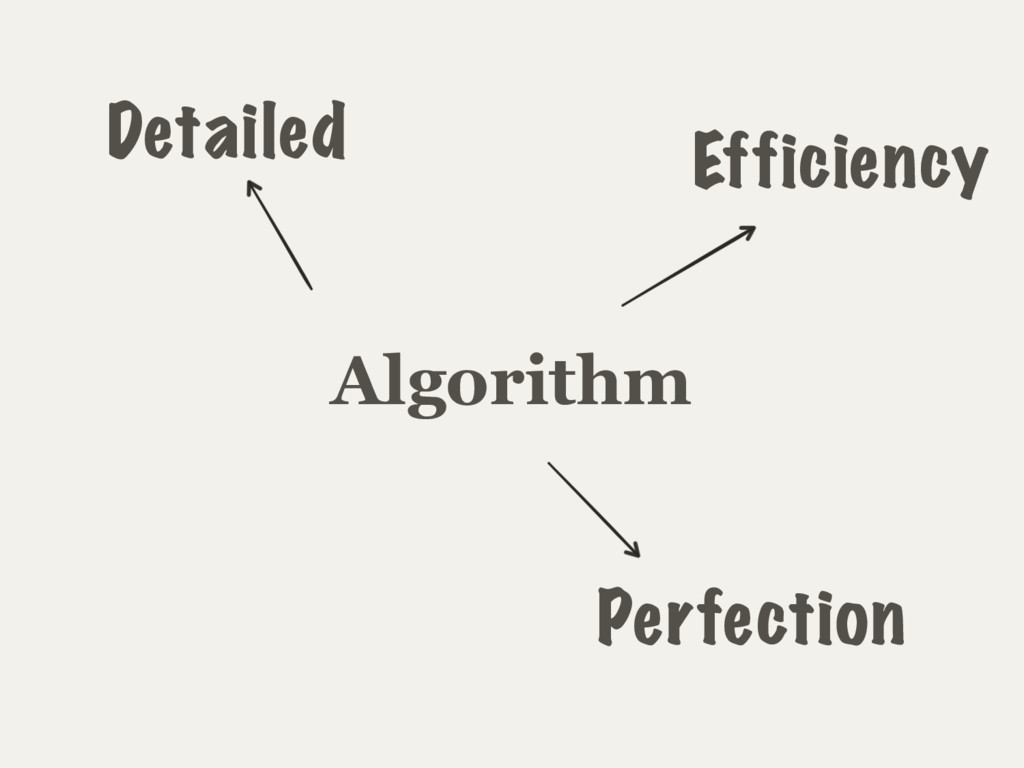 Algorithm Detailed Efficiency Perfection