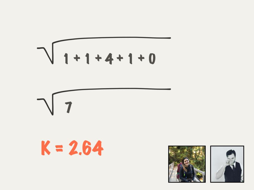 1 + 1 + 4 + 1 + 0 7 K = 2.64