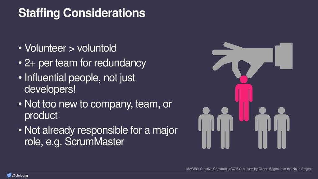 @chriseng Staffing Considerations • Volunteer >...