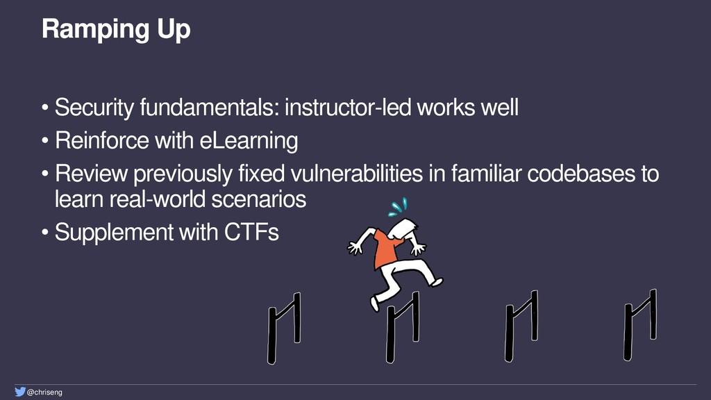 @chriseng Ramping Up • Security fundamentals: i...