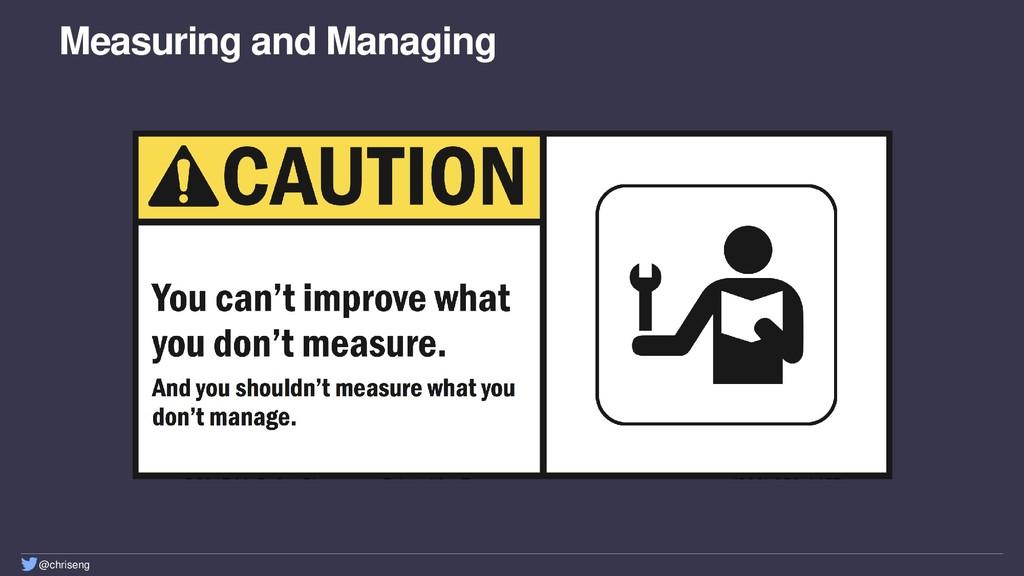 @chriseng Measuring and Managing