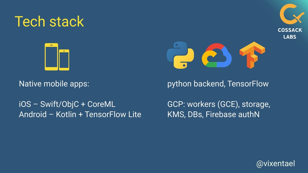 @vixentael Tech stack Native mobile apps:   iOS...