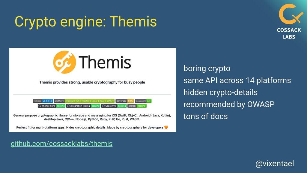 @vixentael Crypto engine: Themis github.com/cos...
