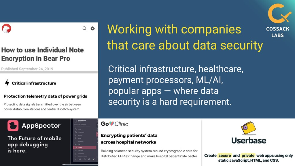 Working with companies   that care about data s...