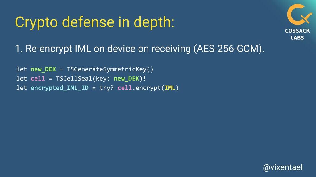 @vixentael Crypto defense in depth: let new_DEK...