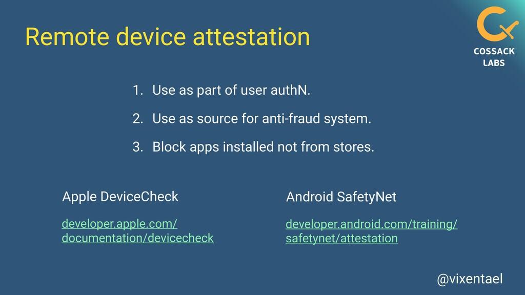 @vixentael Remote device attestation developer....