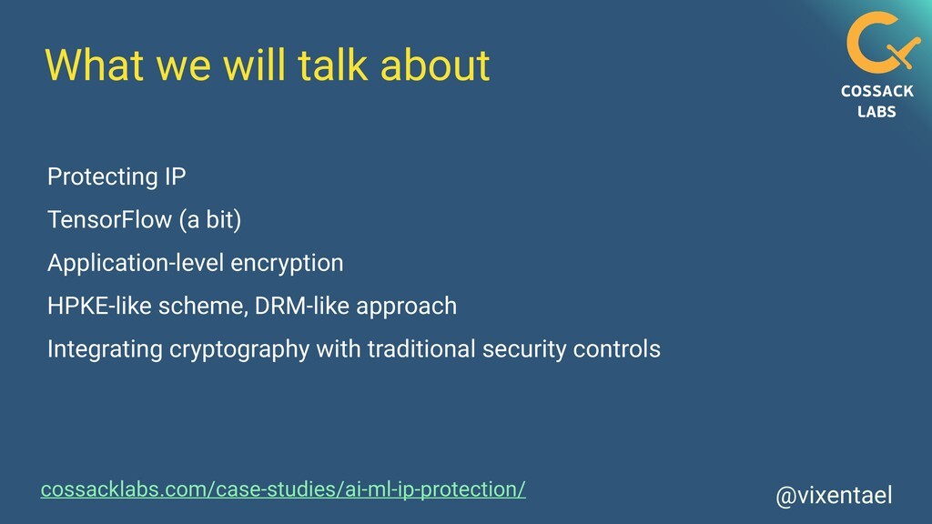 @vixentael What we will talk about Protecting I...