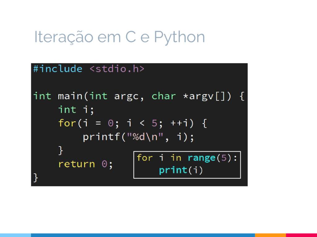 Iteração em C e Python