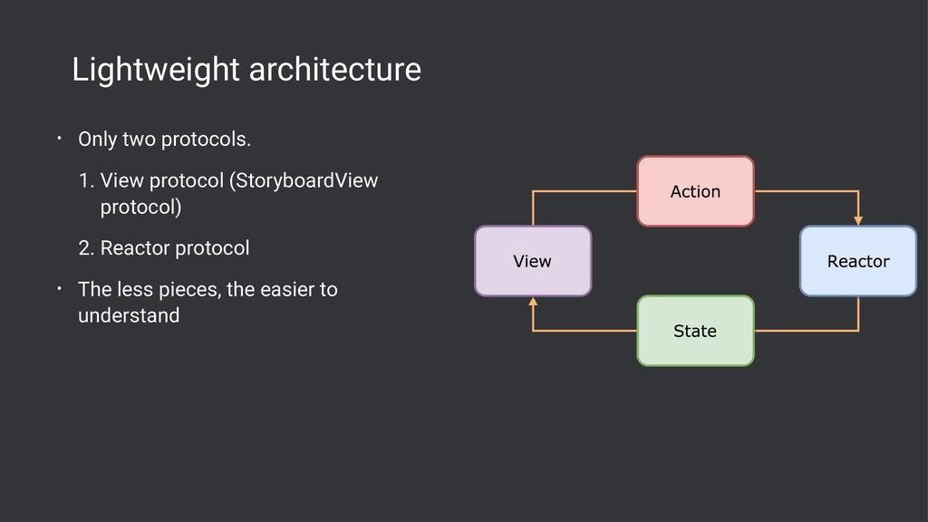 Lightweight architecture • Only two protocols. ...