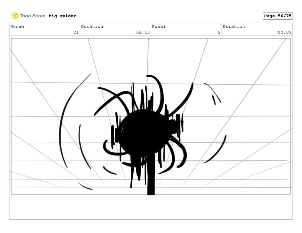 Scene 21 Duration 02:13 Panel 2 Duration 00:09 ...