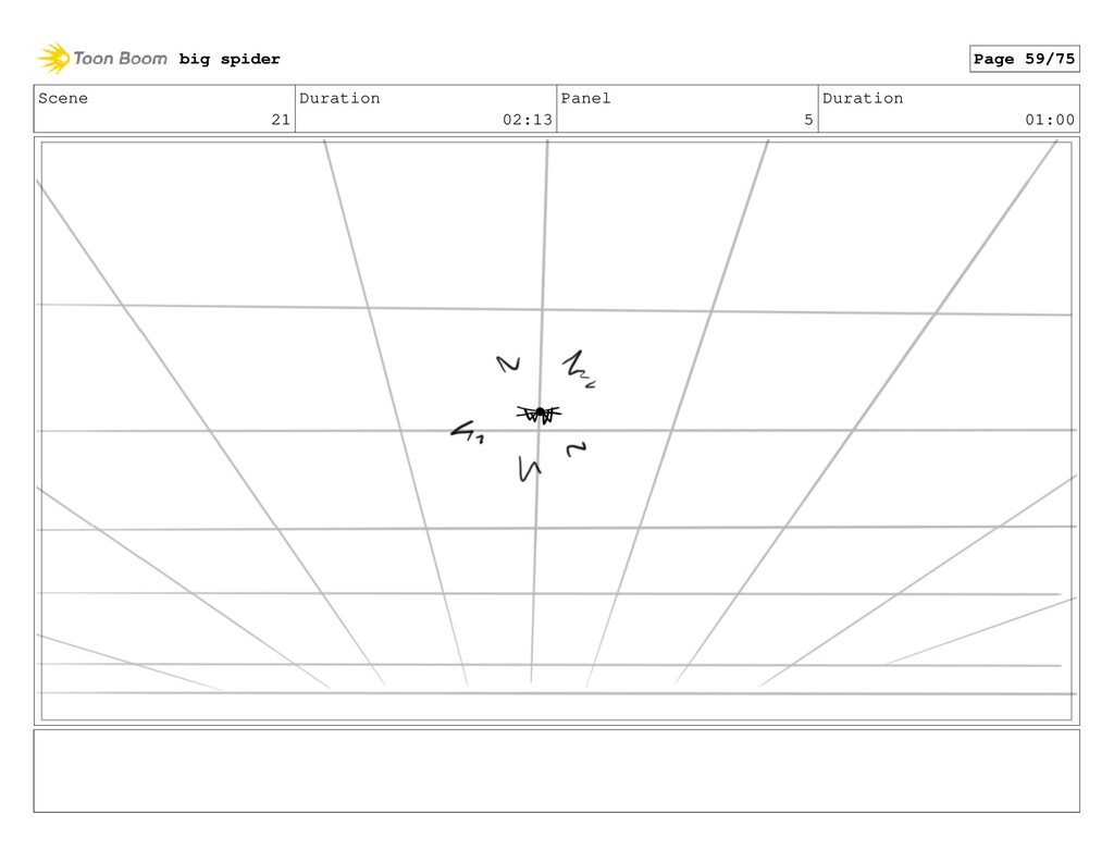 Scene 21 Duration 02:13 Panel 5 Duration 01:00 ...
