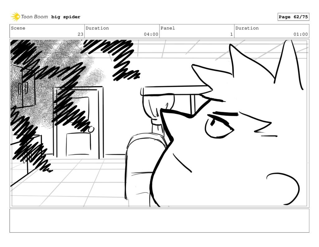 Scene 23 Duration 04:00 Panel 1 Duration 01:00 ...