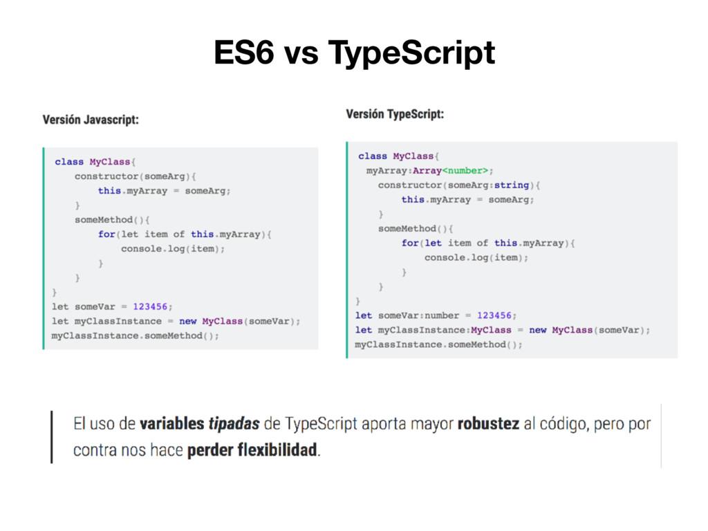 ES6 vs TypeScript
