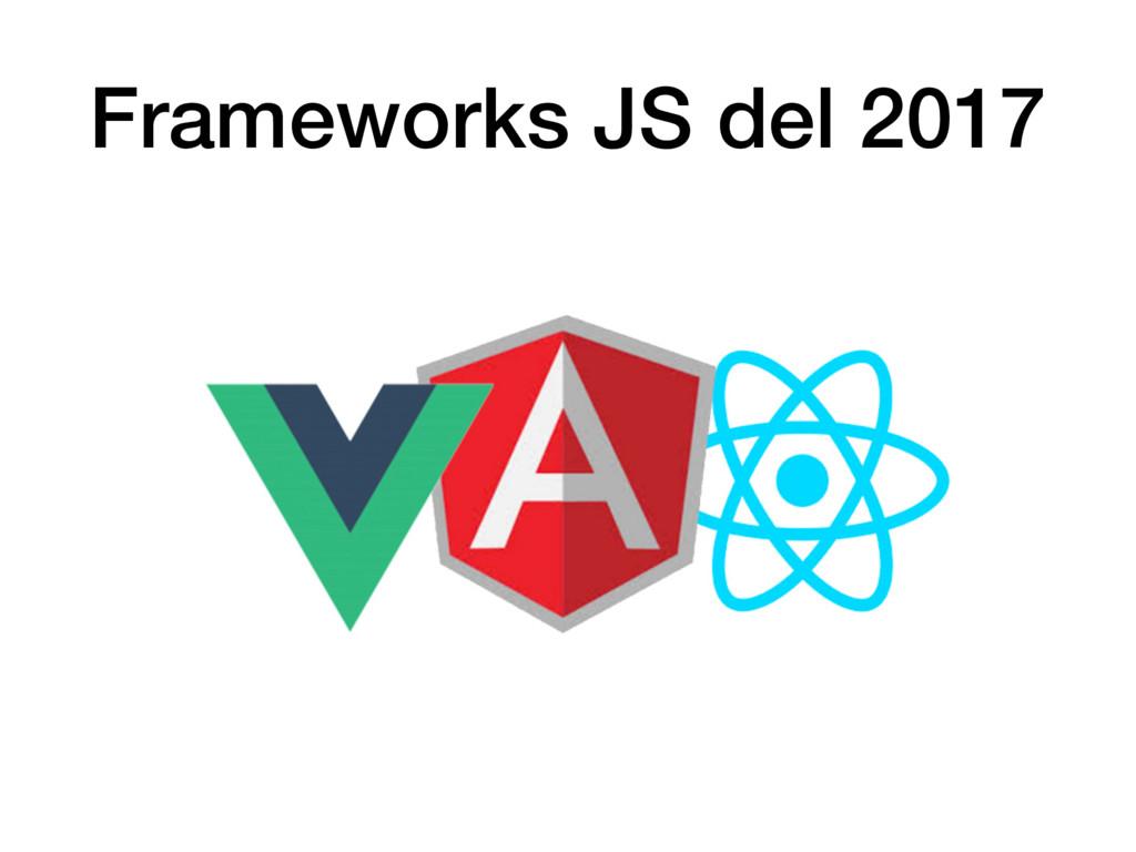 Frameworks JS del 2017