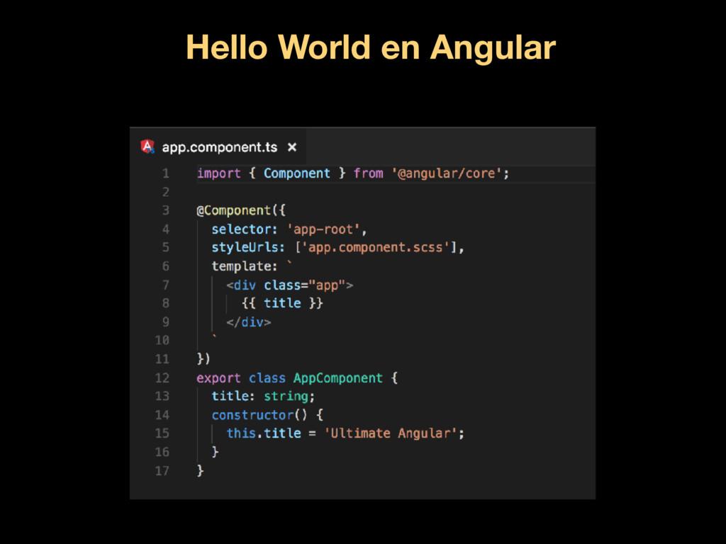 Hello World en Angular