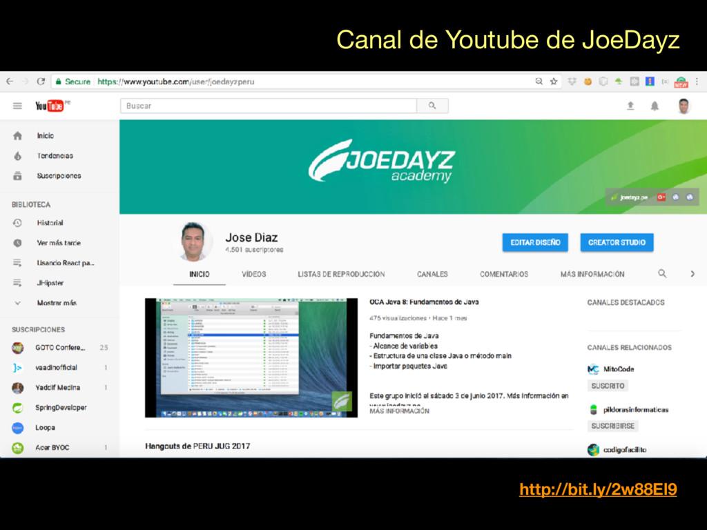 Canal de Youtube de JoeDayz http://bit.ly/2w88E...