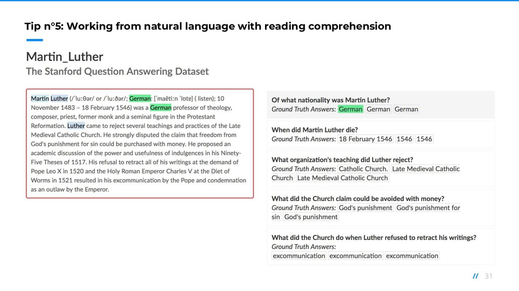 31 // Tip n°5: Working from natural language wi...