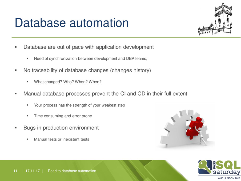 Database automation ▪ Database are out of pace ...