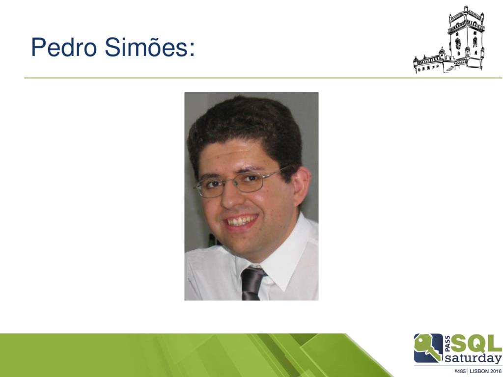 Pedro Simões: