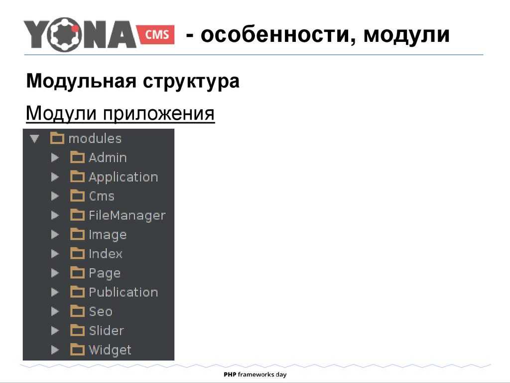 Модульная структура Модули приложения - особенн...