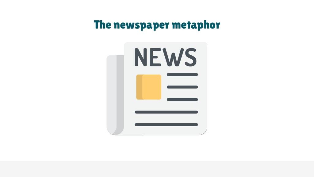 The newspaper metaphor