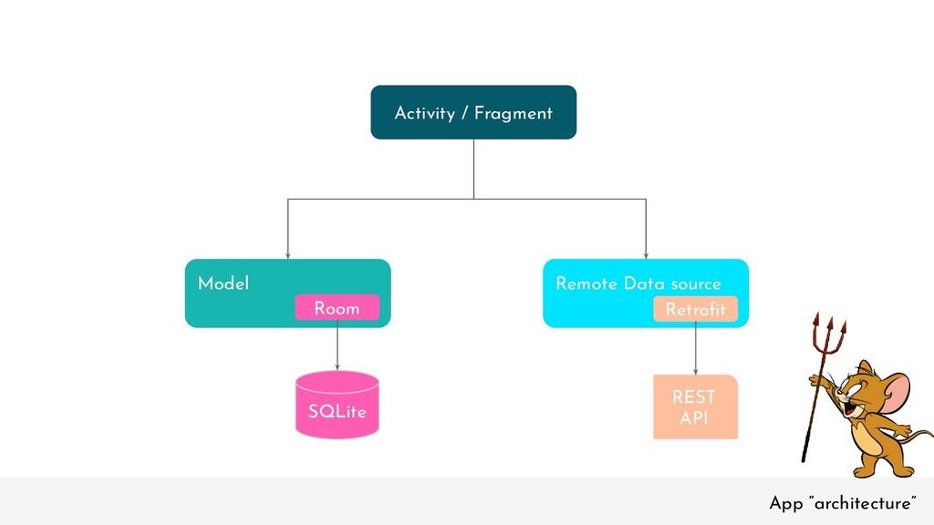 """App """"architecture"""" Model Room Remote Data sourc..."""
