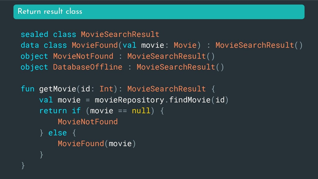 sealed class MovieSearchResult data class Movie...
