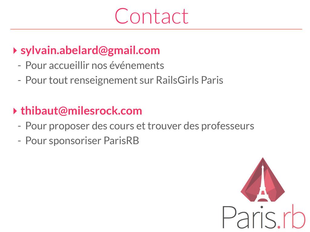 Contact ‣ sylvain.abelard@gmail.com - Pour accu...