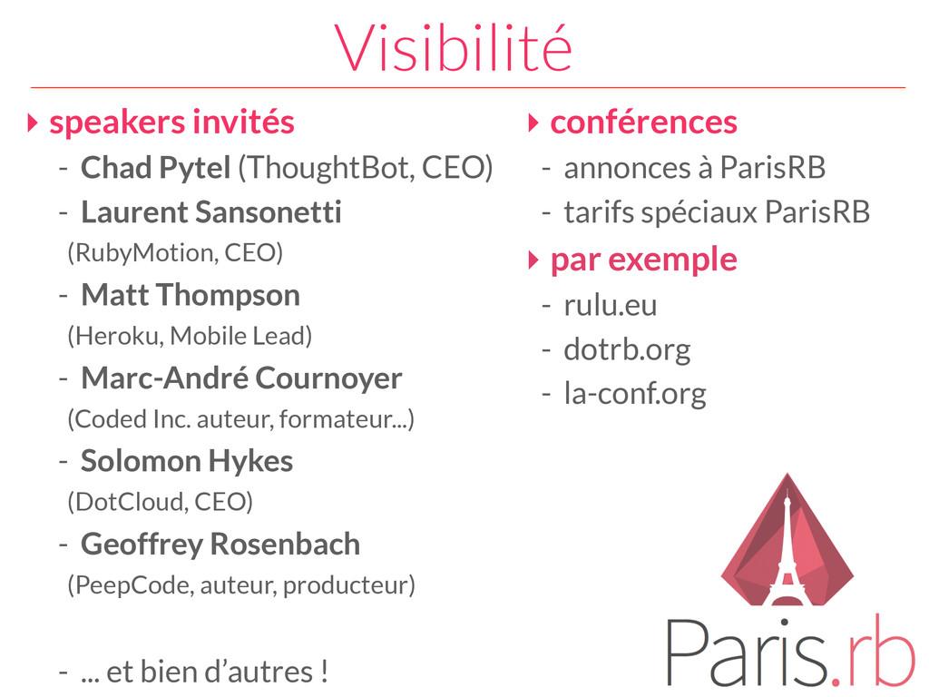 Visibilité ‣ speakers invités - Chad Pytel (Tho...