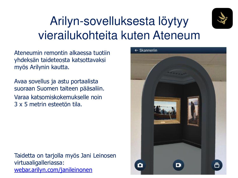Arilynillä sisältöjä Amos Rexiin Amos Rex -muse...