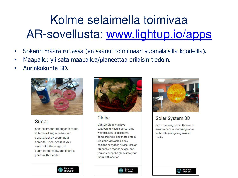 Expeditions: AR-sisältöjen esittäminen Voit toi...