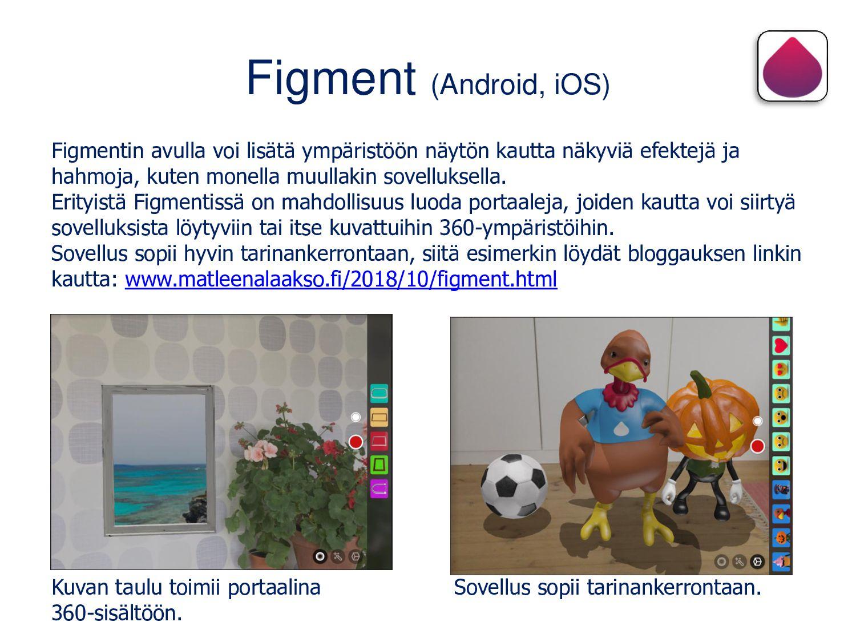 Color Quest AR (Android, iOS) Sovelluksessa vär...