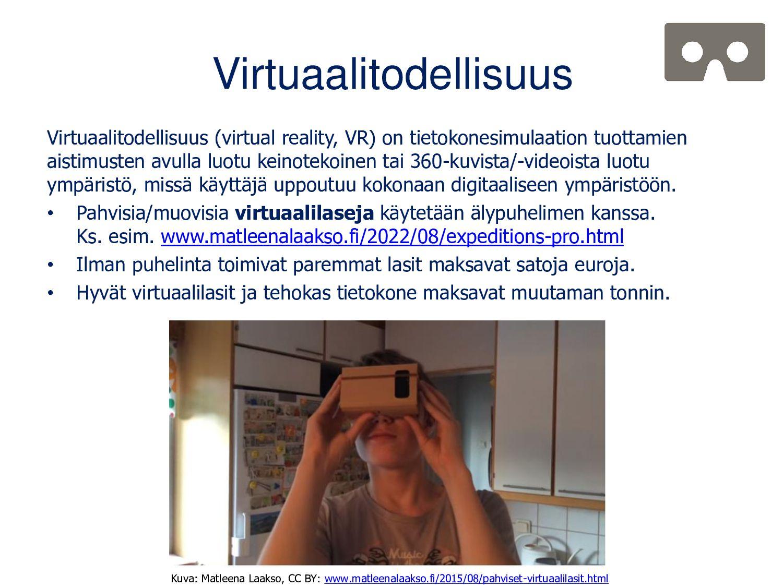 Todellisuus-virtuaalisuus -jatkumo Milgram & Ki...