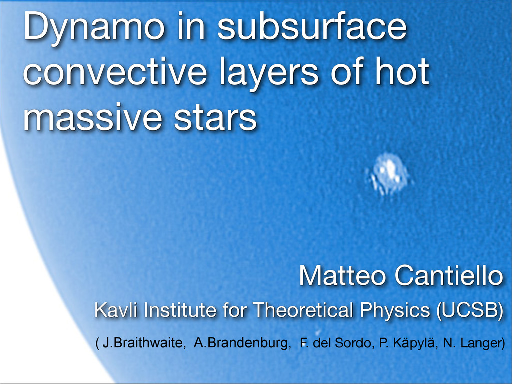 Dynamo in subsurface convective layers of hot m...