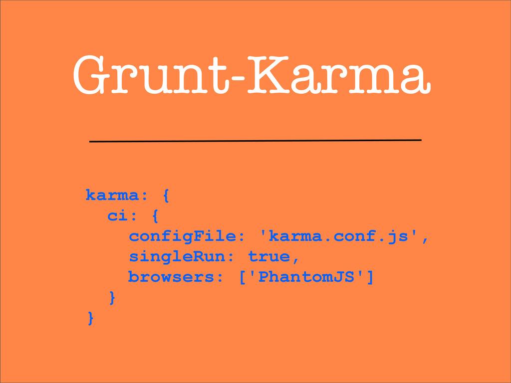 Grunt-Karma karma: { ci: { configFile: 'karma.c...