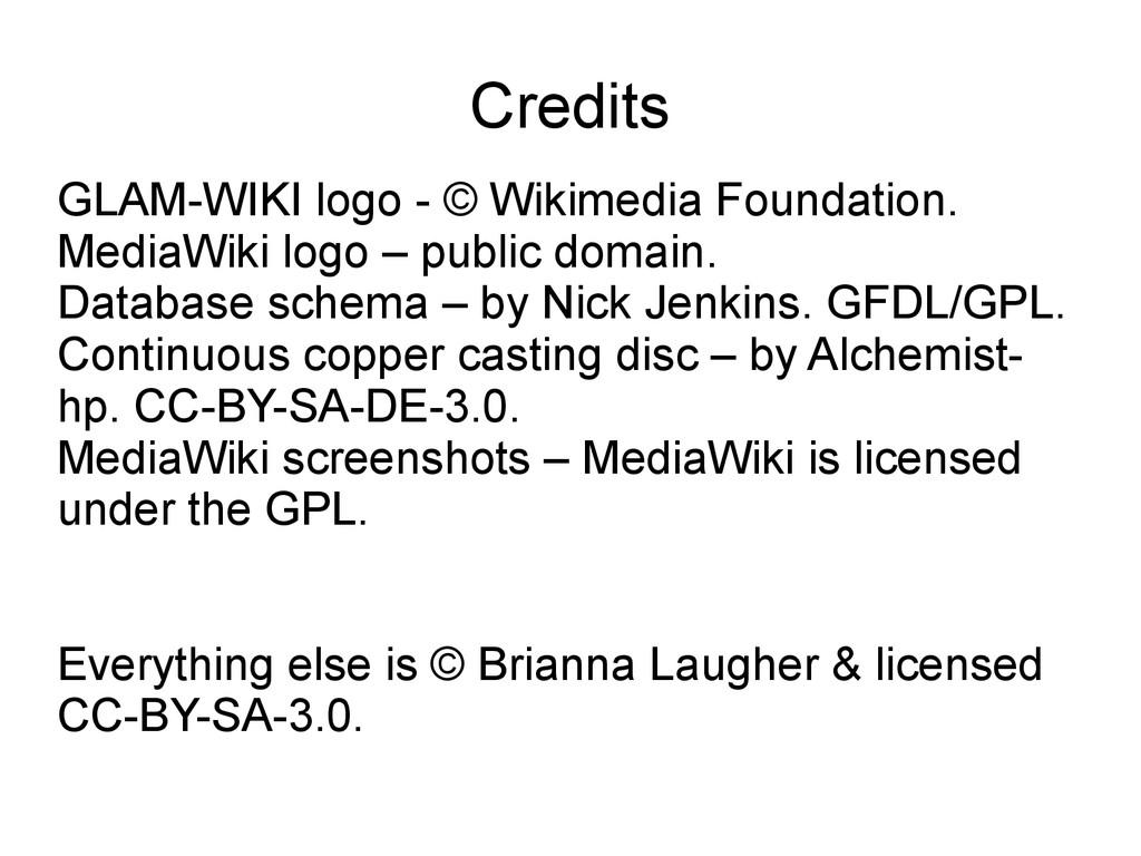 Credits GLAM-WIKI logo - © Wikimedia Foundation...