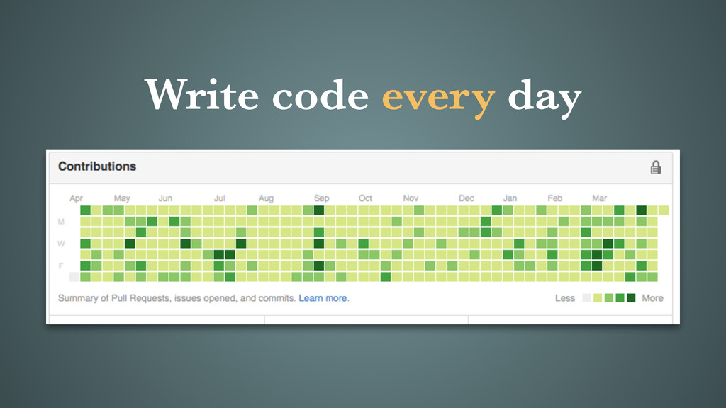 Write code every day