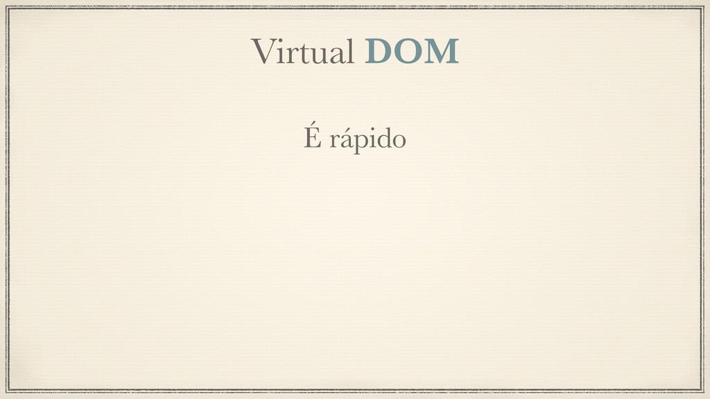 Virtual DOM É rápido