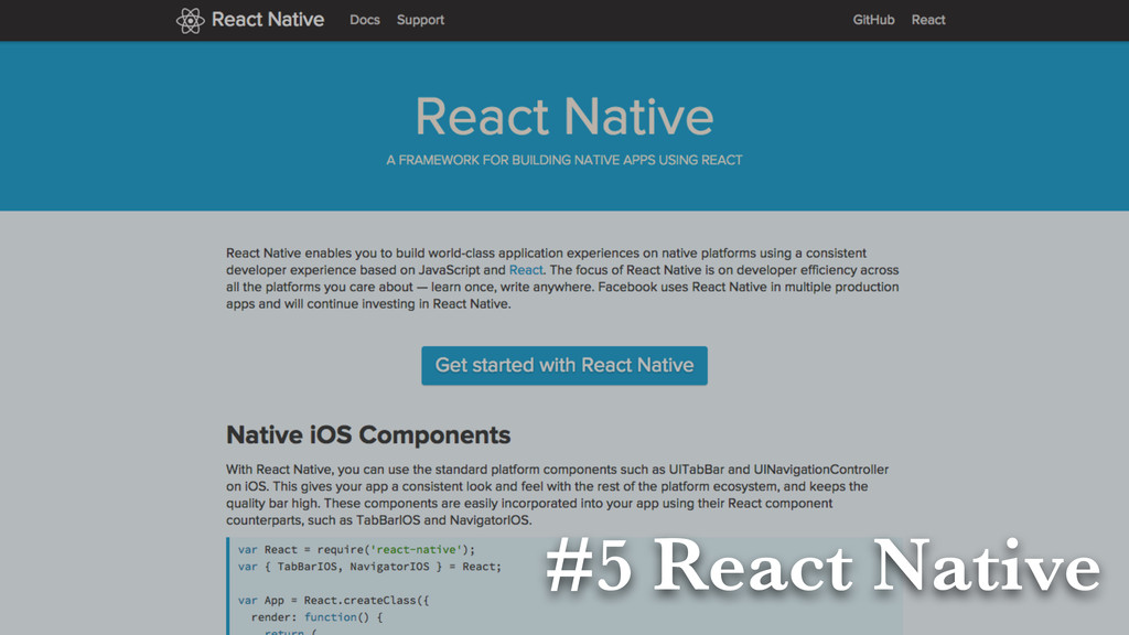 #5 React Native